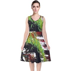 Collosium   Swards And Helmets 3 V Neck Midi Sleeveless Dress