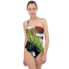 Collosium   Swards And Helmets 3 Classic One Shoulder Swimsuit