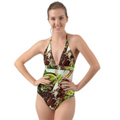 Doves Matchmaking 8 Halter Cut-out One Piece Swimsuit by bestdesignintheworld