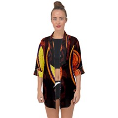 Cryptography Of The Planet Open Front Chiffon Kimono