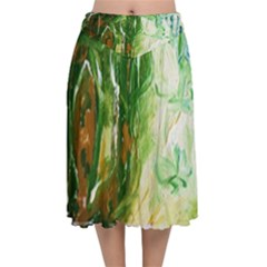 Close To Pinky,s House 11 Velvet Flared Midi Skirt by bestdesignintheworld