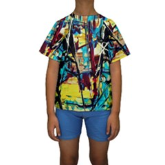 Dance Of Oil Towers 4 Kids  Short Sleeve Swimwear by bestdesignintheworld