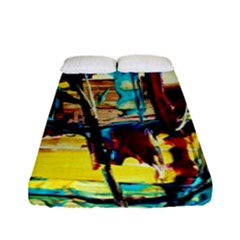Dance Of Oil Towers 4 Fitted Sheet (full/ Double Size) by bestdesignintheworld