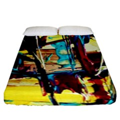Dance Of Oil Towers 4 Fitted Sheet (king Size) by bestdesignintheworld
