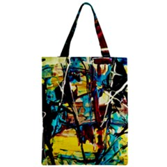 Dance Of Oil Towers 4 Zipper Classic Tote Bag by bestdesignintheworld
