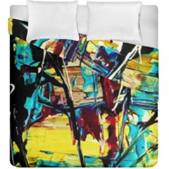 Dance Of Oil Towers 4 Duvet Cover Double Side (king Size) by bestdesignintheworld