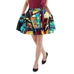 Dance Of Oil Towers 4 A Line Pocket Skirt by bestdesignintheworld