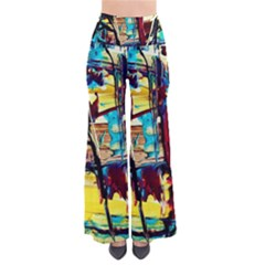 Dance Of Oil Towers 4 So Vintage Palazzo Pants by bestdesignintheworld