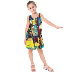 Dance Of Oil Towers 4 Kids  Sleeveless Dress by bestdesignintheworld