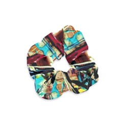 Dance Of Oil Towers 4 Velvet Scrunchie by bestdesignintheworld