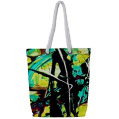 Dance Of Oil Towers 5 Full Print Rope Handle Tote (small)