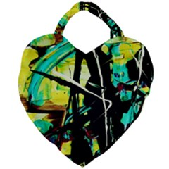 Dance Of Oil Towers 5 Giant Heart Shaped Tote by bestdesignintheworld