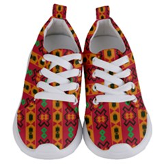 Tribal Shapes In Retro Colors                         Kids  Lightweight Sports Shoes