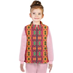 Tribal Shapes In Retro Colors                           Kid s Puffer Vest