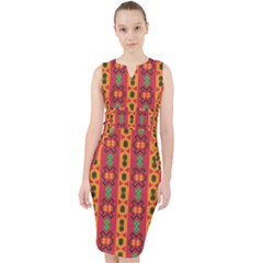 Tribal Shapes In Retro Colors                                   Midi Bodycon Dress by LalyLauraFLM