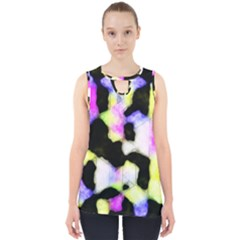 Watercolors Shapes On A Black Background                                  Cut Out Tank Top