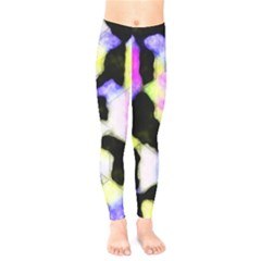 Watercolors Shapes On A Black Background                               Kids  Leggings by LalyLauraFLM