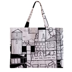 Drawing  Zipper Mini Tote Bag