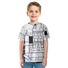 Drawing  Kids  Sport Mesh Tee