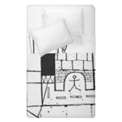 Drawing  Duvet Cover Double Side (single Size)