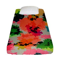Colorful Spots                                  Fitted Sheet (single Size) by LalyLauraFLM