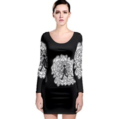 Drawing  Long Sleeve Bodycon Dress