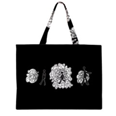 Drawing  Zipper Large Tote Bag