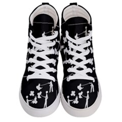 Drawing  Men s Hi Top Skate Sneakers