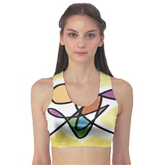 Abstract Art Colorful Sports Bra by Modern2018