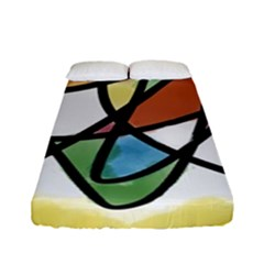 Abstract Art Colorful Fitted Sheet (full/ Double Size) by Modern2018