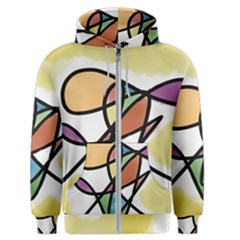 Abstract Art Colorful Men s Zipper Hoodie by Modern2018