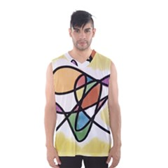 Abstract Art Colorful Men s Basketball Tank Top by Modern2018