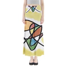 Abstract Art Colorful Full Length Maxi Skirt by Modern2018