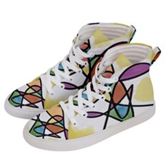 Abstract Art Colorful Women s Hi Top Skate Sneakers by Modern2018