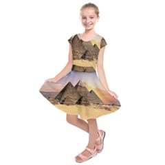Ancient Archeology Architecture Kids  Short Sleeve Dress by Modern2018