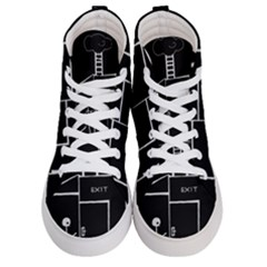 Drawing Women s Hi Top Skate Sneakers