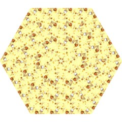 Funny Sunny Ice Cream Cone Cornet Yellow Pattern  Mini Folding Umbrellas by yoursparklingshop