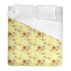 Funny Sunny Ice Cream Cone Cornet Yellow Pattern  Duvet Cover (full/ Double Size) by yoursparklingshop