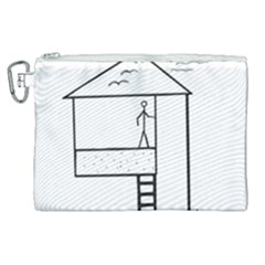 Drawing Canvas Cosmetic Bag (xl) by ValentinaDesign