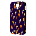 Ice Cream Cone Cornet Blue Summer Season Food Funny Pattern Samsung Galaxy S4 I9500/I9505 Hardshell Case View3