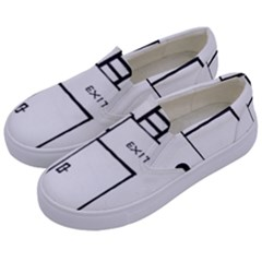 Drawing Kids  Canvas Slip Ons by ValentinaDesign