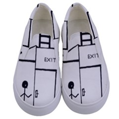 Drawing Kids  Canvas Slip Ons