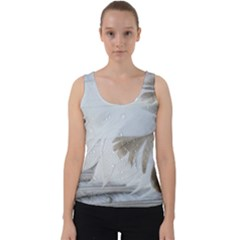 Feather Brown Gray White Natural Photography Elegant Velvet Tank Top