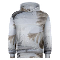 Feather Brown Gray White Natural Photography Elegant Men s Overhead Hoodie
