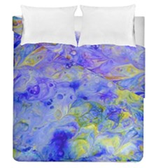 Abstract Blue Texture Pattern Duvet Cover Double Side (queen Size)