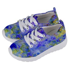 Abstract Blue Texture Pattern Kids  Lightweight Sports Shoes by Simbadda