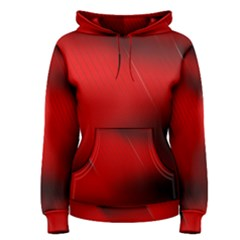 Red Black Abstract Women s Pullover Hoodie