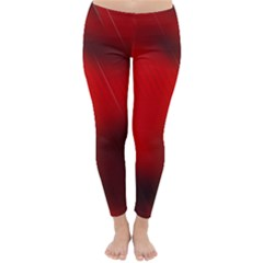 Red Black Abstract Classic Winter Leggings