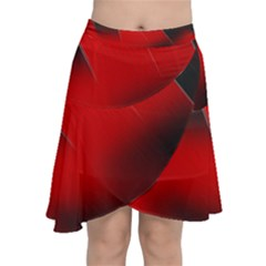 Red Black Abstract Chiffon Wrap