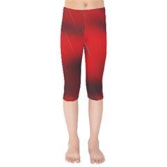Red Black Abstract Kids  Capri Leggings  by Simbadda
